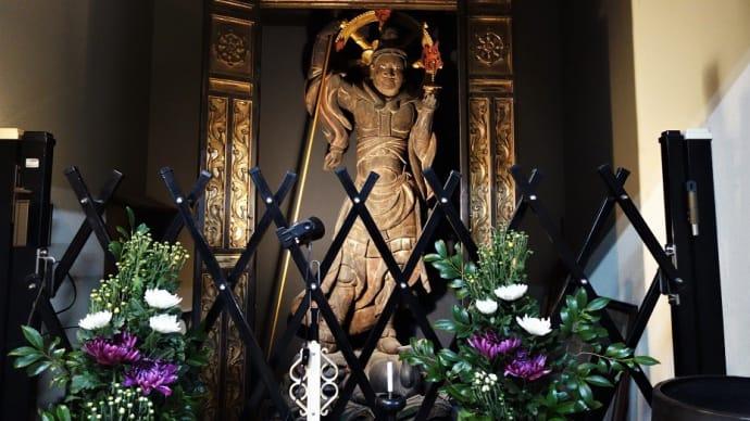 2019 9/15の拝観報告2 最終(厨子奥公会堂 毘沙門天像)