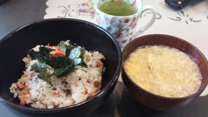 4/1の昼御飯鮭の混ぜご飯