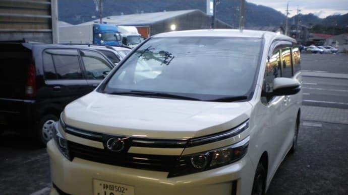 平成26年トヨタ ヴォクシー オイル交換とシートカバー
