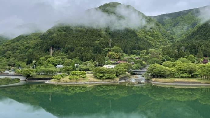 雨上がりの丹沢湖