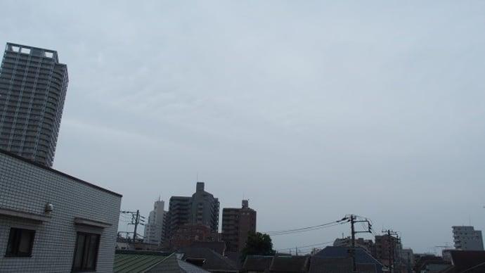 今朝(8月16日)の東京のお天気:曇り、8月の作品:野辺の二人