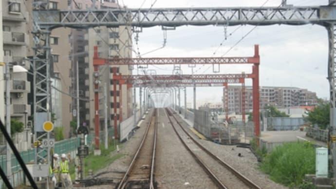 小田急線・海老名~厚木間高架化工事の様子(08年7月の状況)ようやく完成形