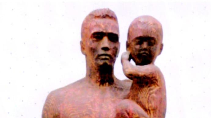 【木彫作品】「父と子」