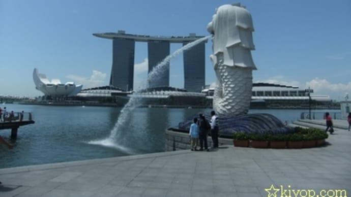 12年5月・シンガポールと香港の旅(その9・マーライオンパークに)
