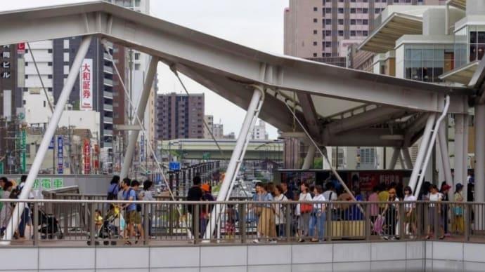阿倍野歩道橋でsmc PENTAX  A50mm F1.7