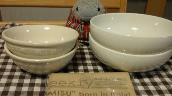Seriaの食器とペーパーナプキンです。