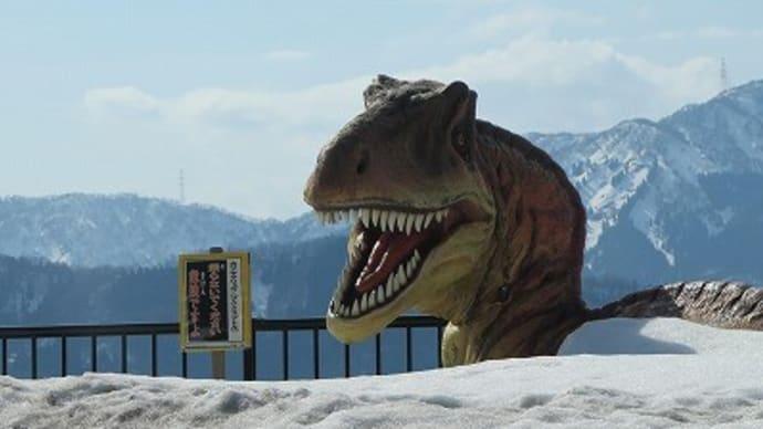今月末までこんな企画「恐竜の足跡展(実物)」。