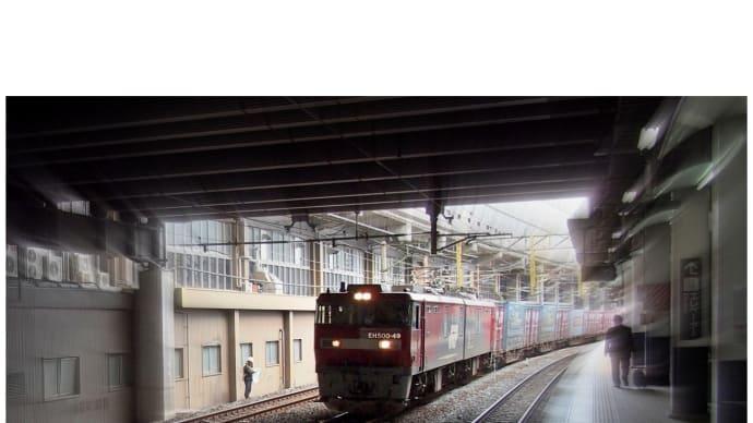 EH500-49が小倉駅を通過