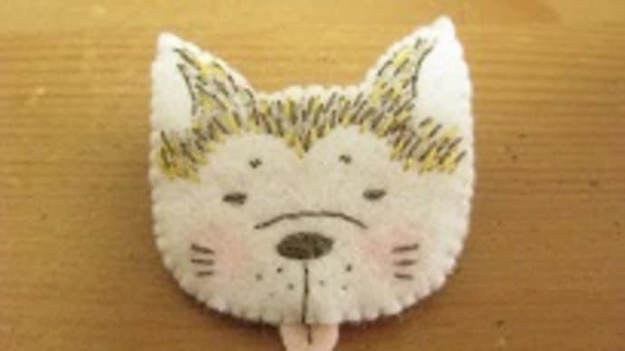 秋田犬の「エス」と「シロ」