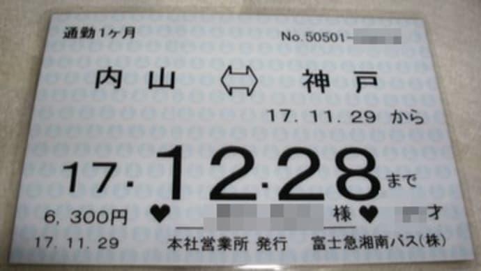 廃止区間(神戸~内山)の定期券