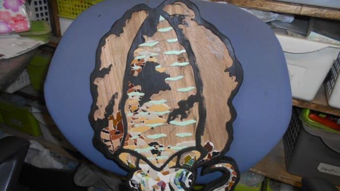 アオリイカのモザイク