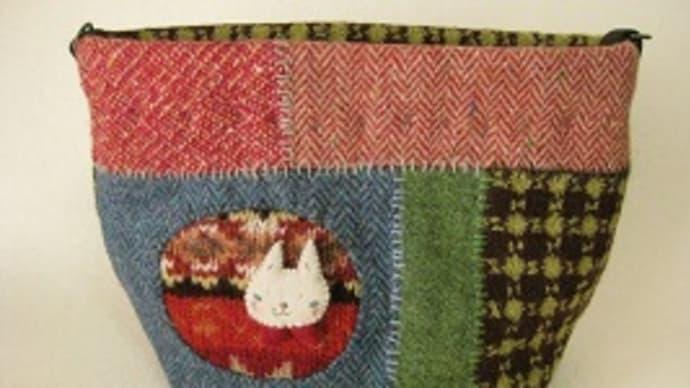 編み込み模様のハギレ