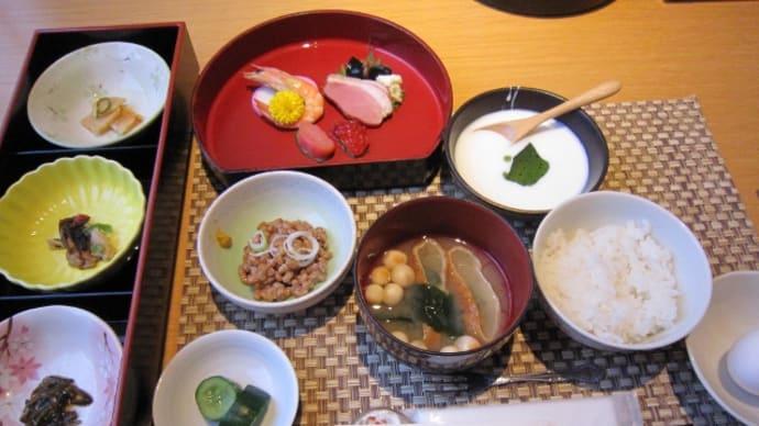 温泉宿の朝食&夕食(2日目)