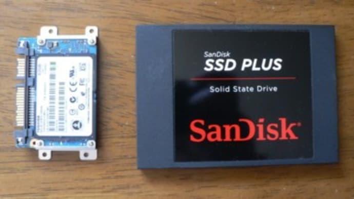 SSD 64GB→240GBへ換装