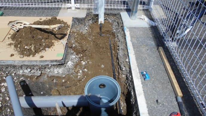 駐車場に外流しを設置・・・千葉市