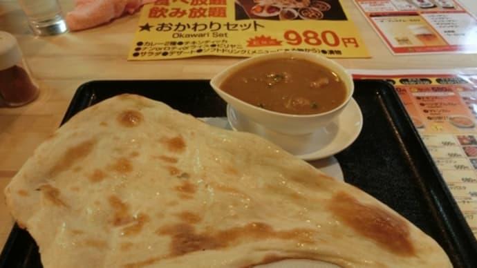 平成31年3月15日の食事(大和鶴間のインドカレー)