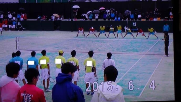 山口県高等学校総合体育大会(ソフトテニス競技)団体戦 2戦目(3回戦)その1