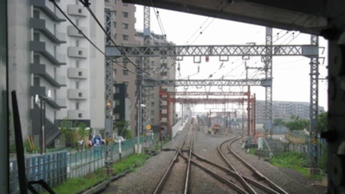 小田急線・海老名~厚木間高架化工事の様子