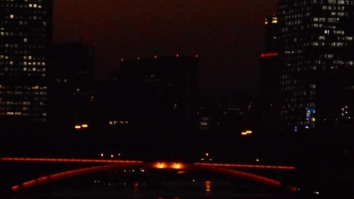 25日の天満橋からの夜景