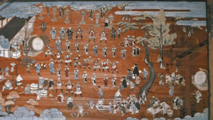 1: 『演者と観客 生活の中の遊び』(日本民俗文化大系7)から「田楽」 (本書より1枚)