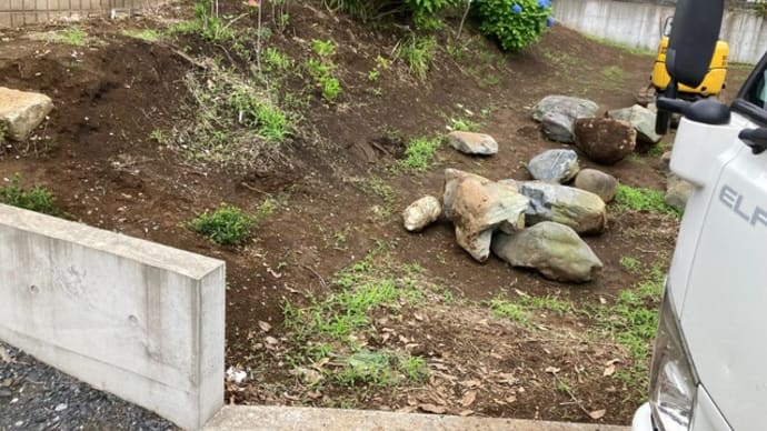 川崎市高津区にて法面土留め石組工事を行いました。