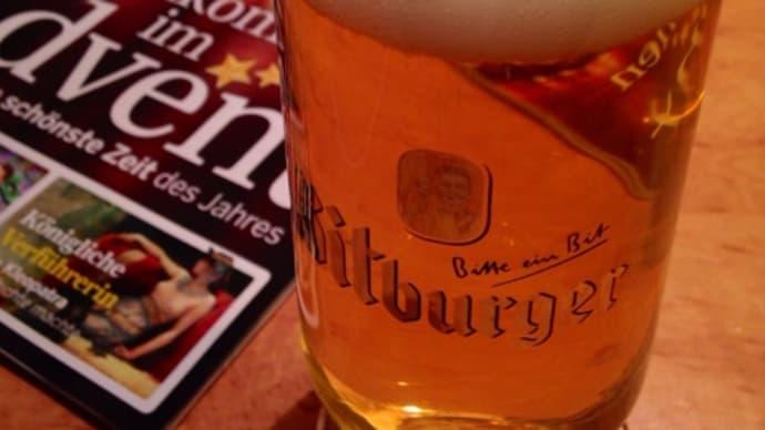 夜更けのビール@フランクフルト