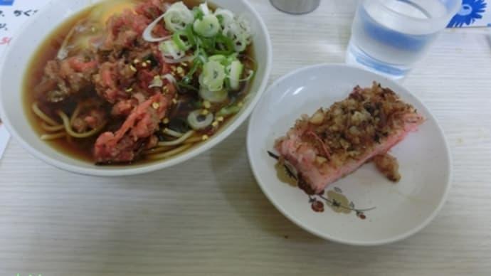 平成27年9月21日の食事(一由そばのゲソ寿司)