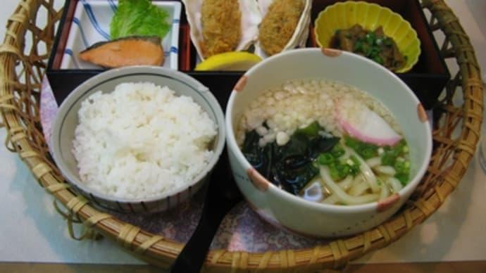 10月4日の食事(カキの花籠膳)