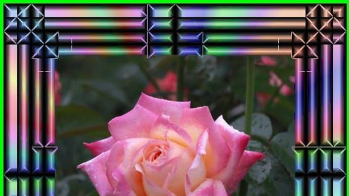 難しい~水彩で花籠