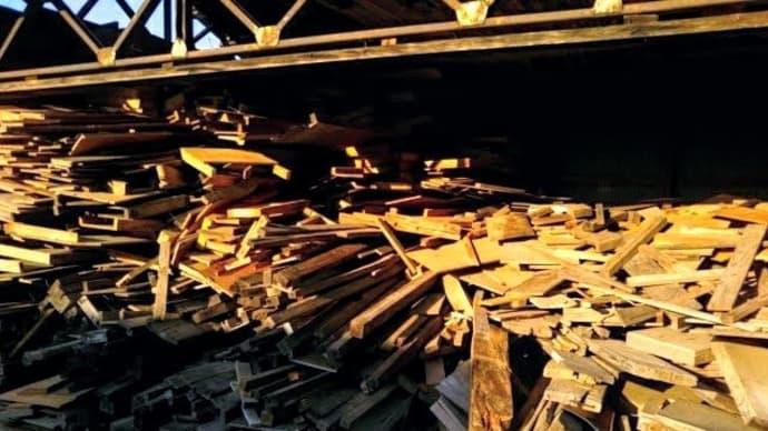 第二倉庫の片づけ作業