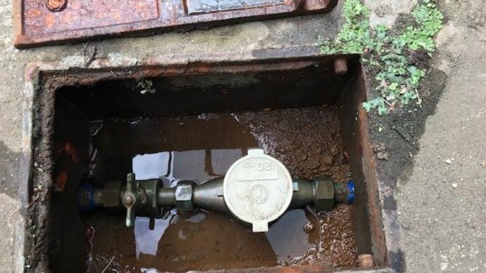メーターBOXの中で水漏れ・・・千葉市