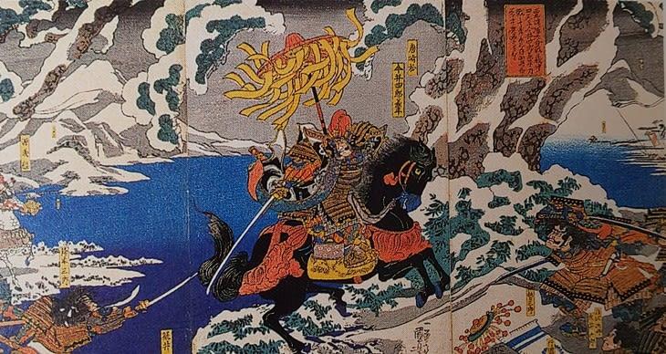 木曽義仲最期(今井兼平と再会した打出浜) - 平家物語・義経伝説の ...