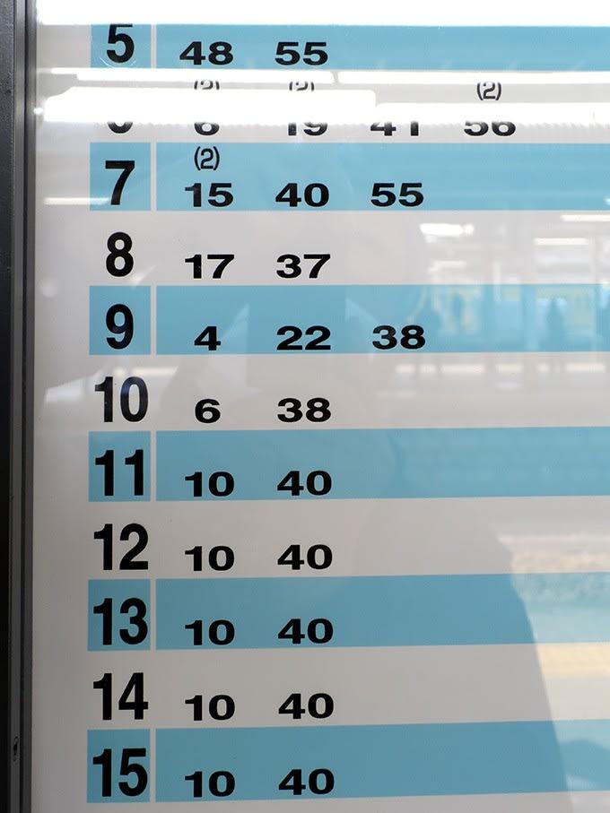 武蔵 五日市 駅 時刻 表