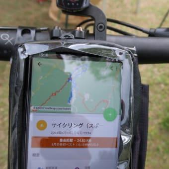 自転車がスキー場入り口の虎ロープに引っかかって大転倒 (2019/5/13)