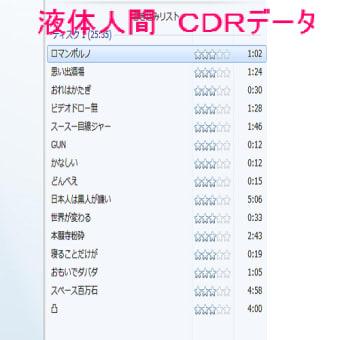 CDR 液体人間のデータ