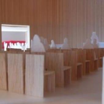 礼拝堂内の模型