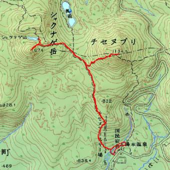 シャクナゲ岳とチセヌプリのGPSトラック
