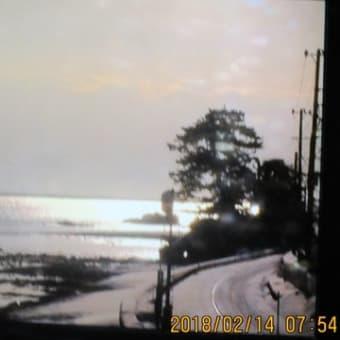 朝の積雪状況  180214(水)