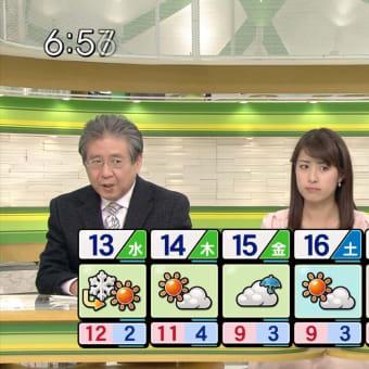 佐藤渚 Nスタ 13/02/12
