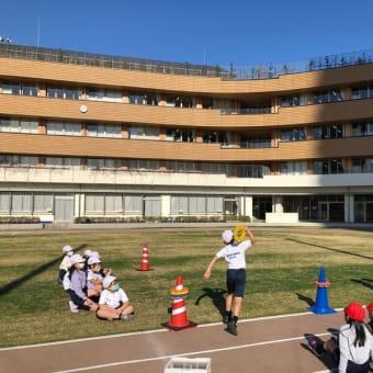 江東区立有明西学園でリングビーの出張授業