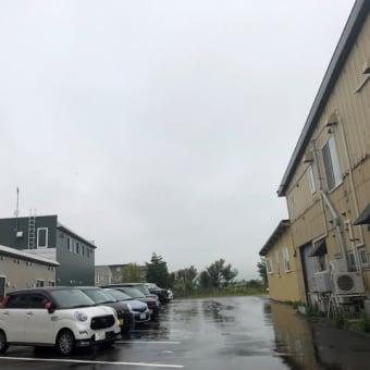 小雨から大雨になる予報の北斗市