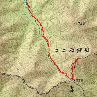 ユニ石狩岳のGPSトラック