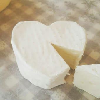ハート型のカマンベールチーズ