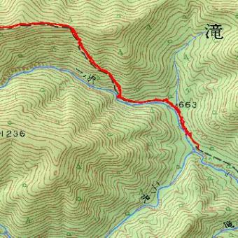 天塩岳のGPSトラック