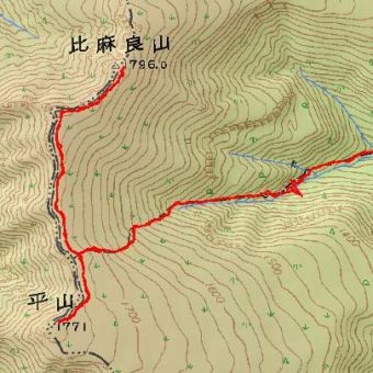 平山のGPSトラック