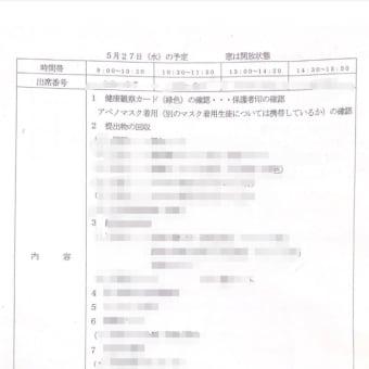 埼玉県深谷市の或る公立中学校でアベノマスクを生徒に着用確認を求める文書配布。