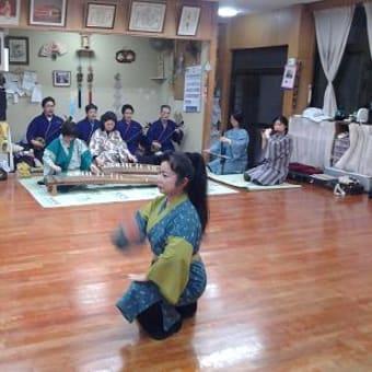 琉球舞踊稽古開始