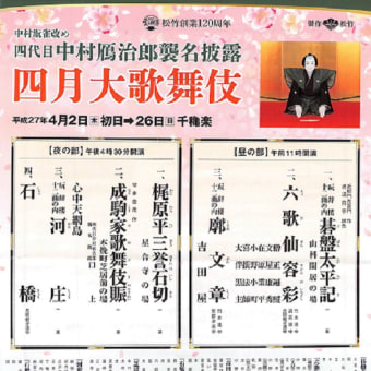 歌舞伎座四月の演目