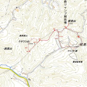 ケネウシ山・幌見山のGPSトラック