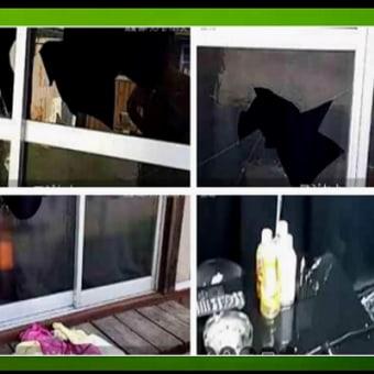 唯我先輩の窓ガラス割られる